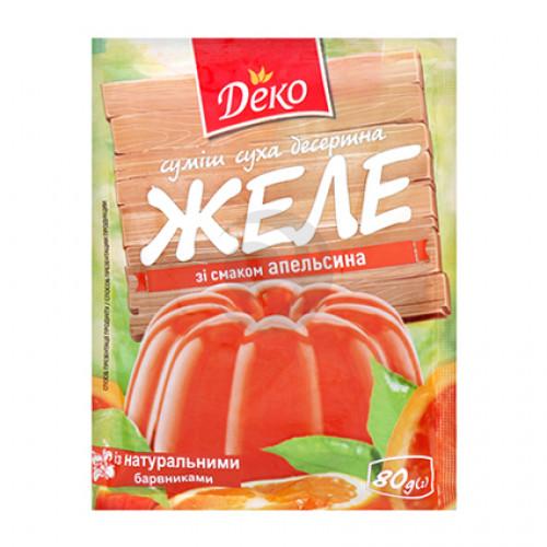 Желе зі смаком Персика Деко 80г