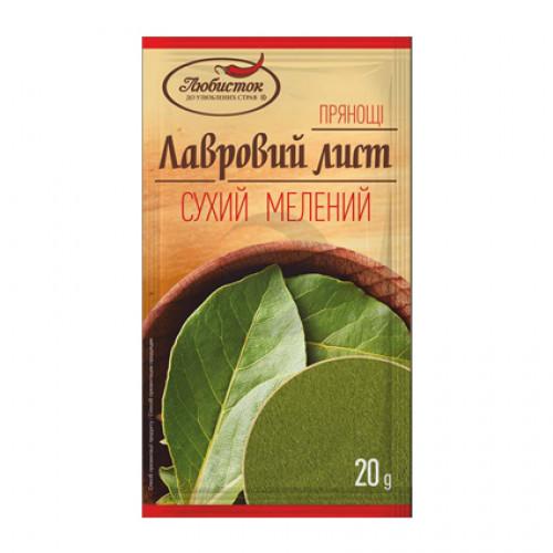 Любисток ПРЯНОЩІ Приправа 20г Лавровий лист сухий мелений