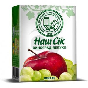 Сок Наш Сок 0,2л яблочно-виноградные