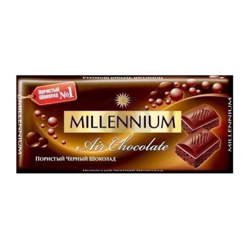 Шоколад Міленіум 090г пористий чорний
