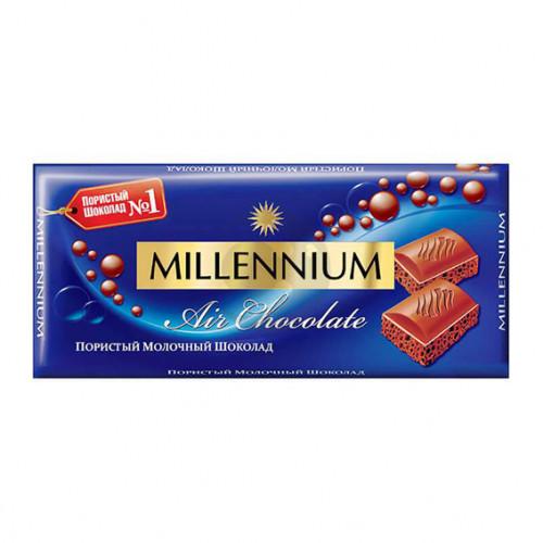 Шоколад Міленіум 090г пористий молочний