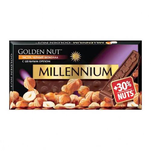 Шоколад Міленіум Голд 100г екстра чорний цілий горіх Рейнфорд