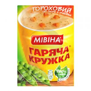 Мівіна Гаряча кружка суп Гороховий з грінками 19гр
