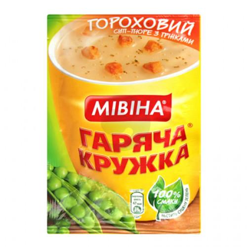 Мивина Горячая кружка суп Гороховый с гренками 19гр