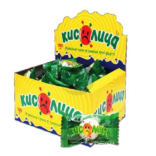 Жевательная конфета Кислица Тутти-фрутти 100 шт / бл