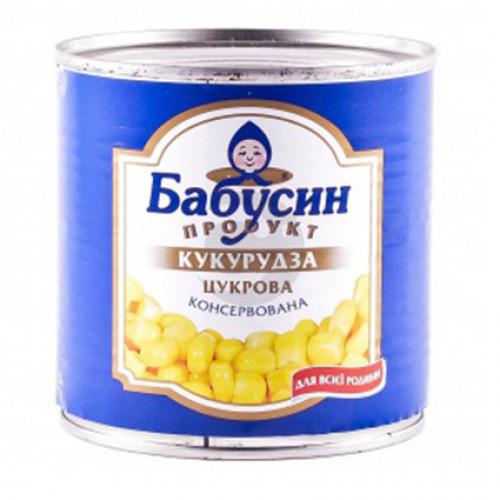 Консерв. Кукурудза Бабусин продукт 340г з/б