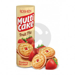 Печиво Рошен MULTI CAKE strawberry cream 180 г