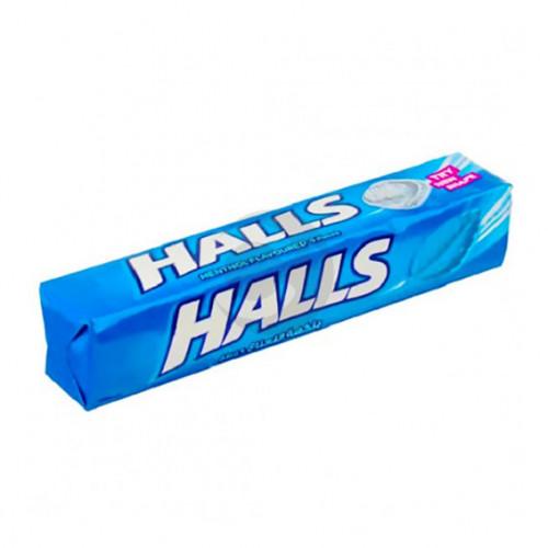 Леденцы Halls 20шт mentol flavoures (синий) 25.2г.