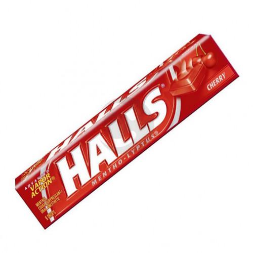 Льодяники Halls 20шт Сherry flavoured (вишня) 25.2г.