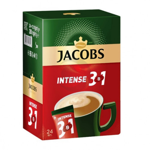 Кава Jacobs (стік) 3 в1 INTENSE 12г (24шт/уп)
