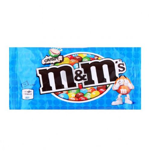 Драже М енд Мс 036г з рисовими кульками в мол. шоколаді Марс 24 шт/бл