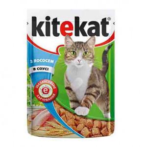 """92. Корм для котів """"kiteket"""" З лососем в соусі 100гр 1/24"""