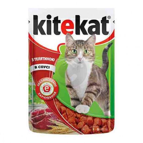 Корм для кошек Kitekat с телятиной в соусе 100 г