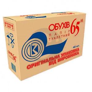 Туалетний папір Обухов 65м. (ящик)