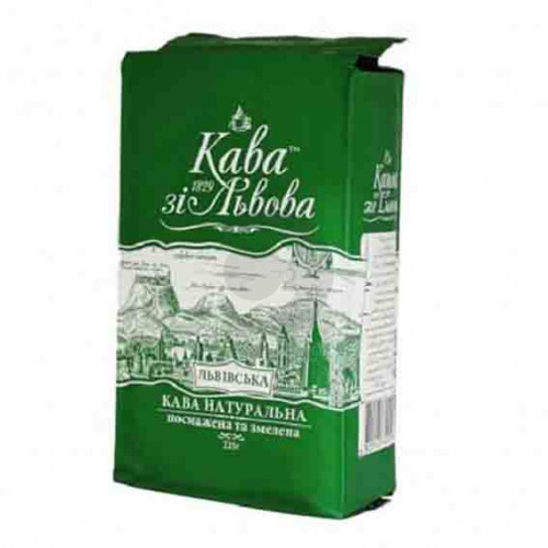 Кава Кава зі Львова 225гр мелена Львівська (зелена)