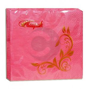 Салфетки столовые Алсу-Пак розовые 2-х слойные 33 * 33 20 шт