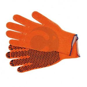 Перчатки рабочие (оранжевые) ХБ (12пар)