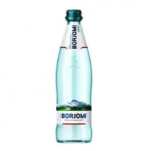 Вода мінеральна BORJOMI 0,5л газ. ПЕТ. Ціна вказана за упаковку ( 1уп/12бут)