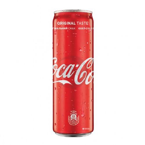Вода сладкая Coca Cola 0,33л Ж / Б (1 уп / 12бут)