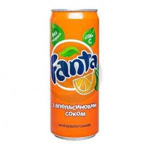 Вода солодка Fanta 0,33л Апельсин З/Б (1уп/12бут)