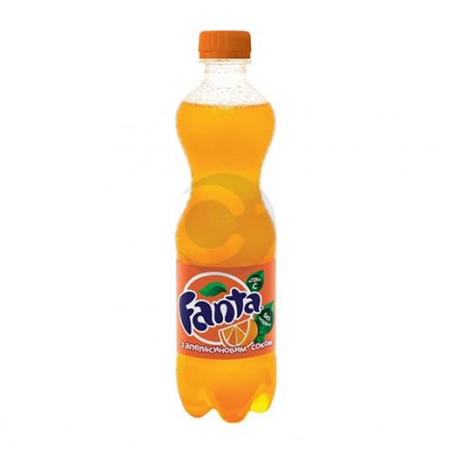 Вода сладкая Fanta 0,5л Апельсин (1уп / 12бут)