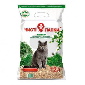Наполнитель для кошачьего туалета ЧИСТЫЕ ЛАПКИ Стандарт 12л (3кг.)