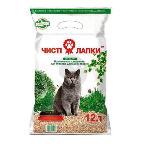 Наповнювач для котячого туалету ЧИСТІ ЛАПКИ Стандарт 12л (3кг.)