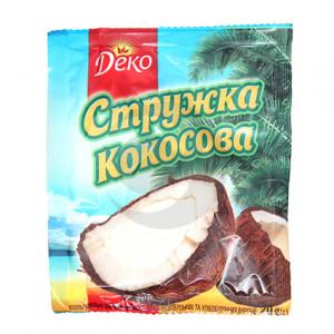 Деко Кокосовая стружка 20 г / 120шт (микс)