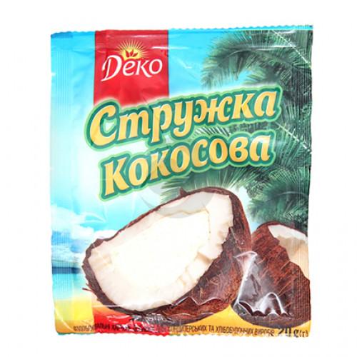 Деко Стружка кокосова 20г/120шт (мікс)