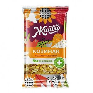 Жайвир Козинак 65г Подсолнечный на фруктозе со стевией»