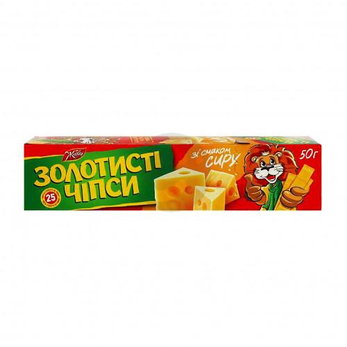 Чипсы картофельные 50г Золотистые со вкусом Сыра