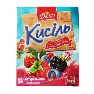 Деко Кисель 65г со вкусом Лесной ягоды