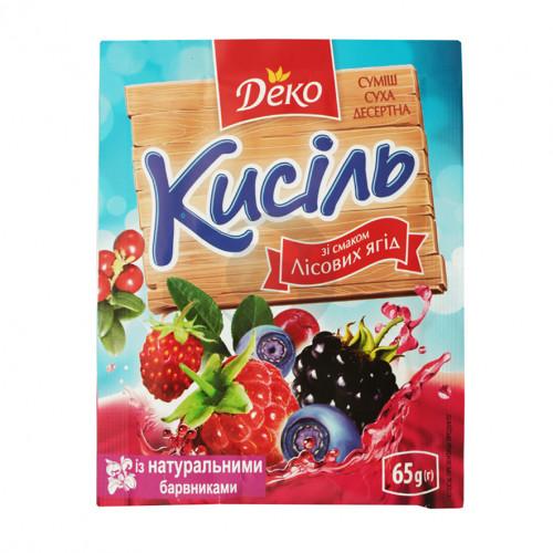 Деко Кисіль 65г зі смаком Лісової ягоди