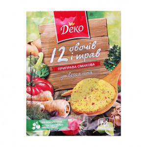 Деко Вкусовая приправа 70г 12 овощей и трав универсальная