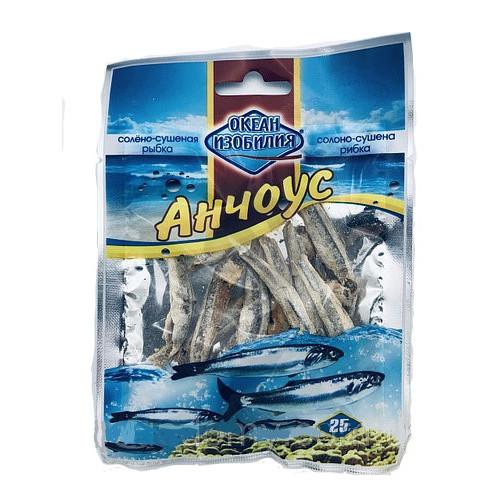 Риба сушена Океан изобилия АНЧОУС солоно-сушений 25гр.