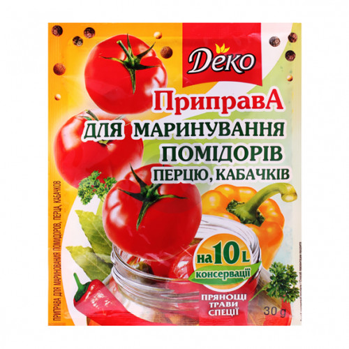 Деко Приправа для маринования помидоров, перца, кабачков 30г