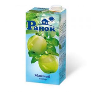 Нектар Ранок 1л яблочный