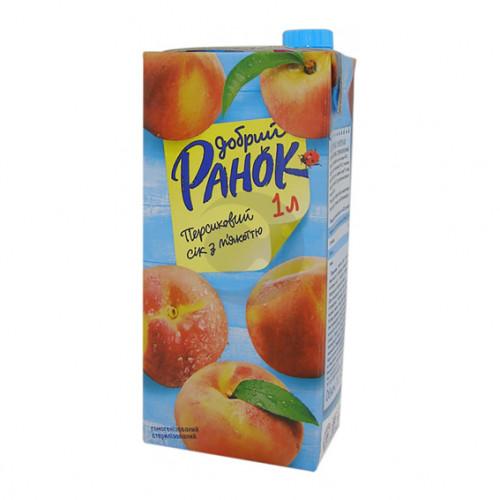 Сок Ранок 1л персиковый с мякотью